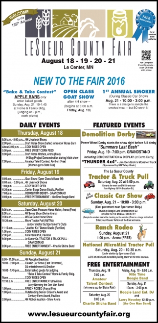 NEW TO THE FAIR 2016
