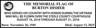 THE MEMORIAL FLAG OF BURTON DISHER