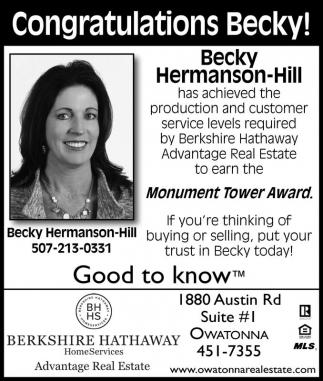 Congratulations Becky!