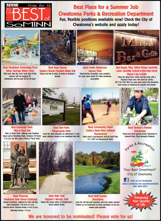 Ads For Owatonna Parks And Recreation in Southern Minn