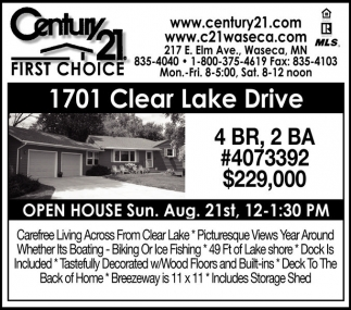 Ads For Century 21 In Waseca, MN