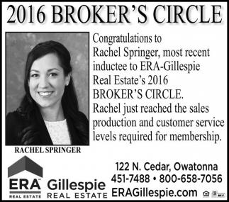 2016 BROKER'S CIRCLE