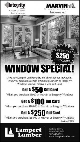WINDOW SPECIAL!