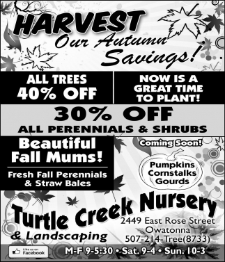 HARVEST Our Autumn Savings!