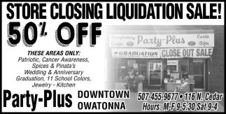 STORE CLOSING LIQUIDATION SALE! 50% OFF