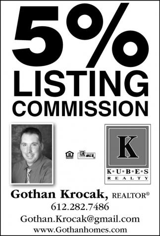 5% Listing Commission