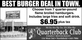 BEST BURGER DEAL IN TOWN