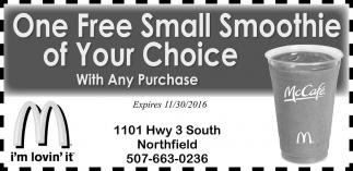 FREE SMALL SMOOTHIE