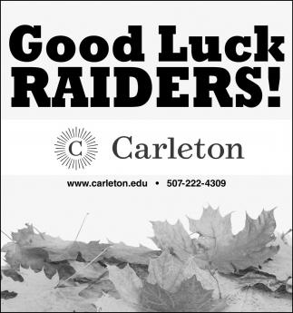 Good Luck Raiders!