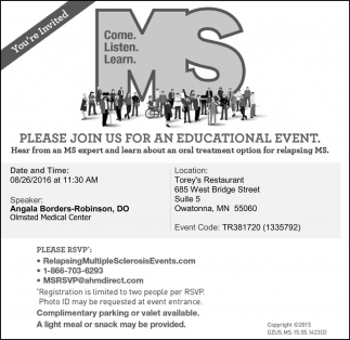 Please join us for an educational event