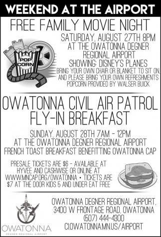 Ads For Owatonna Degner Regional Airport in Southern Minn