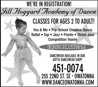 CLASSES FOR AGES 2 TO ADULT!