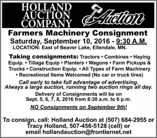 Farmers Machinery Consignment