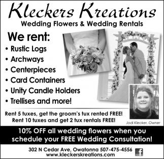 Wedding Flowers and Wedding Rentals