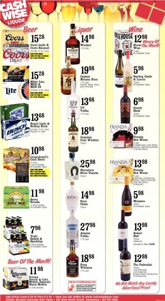Beer Liquor Wine