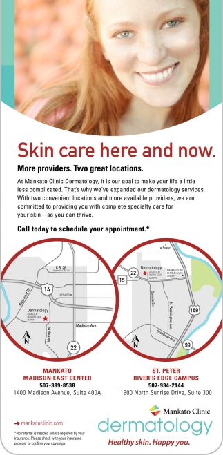 Skin care here and now