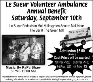 Le Sueur Volunteer Ambulance Annual Benefit