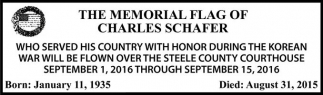 THE MEMORIAL FLAG OF CHARLES SCHAFER