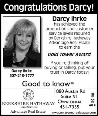 Congratulations Darcy!