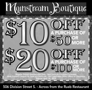 $10 OFF $20 OFF