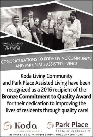 Bronze Commitment to Quality Award
