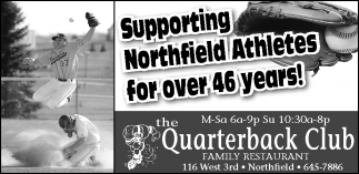 Supporting Northfield Athletes for over 46 years!