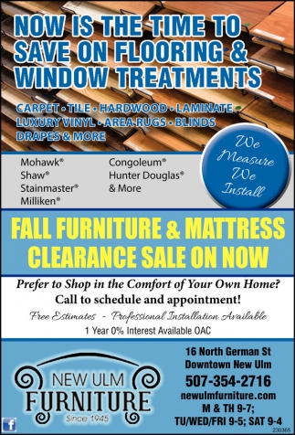 FALL FURNITURE AND MATTRESS CLEARANCE SALE ON NOW