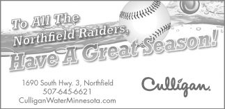 To All The Northfield Raiders Have A Great Season!