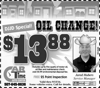 OIL CHANGE $13,88