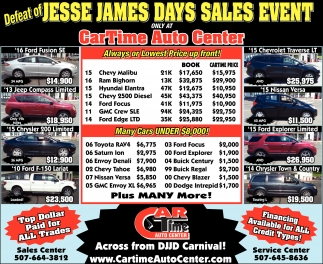 JESSE JAMES DAYS SALES EVENT