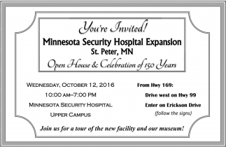 Open House and Celebration of 150 Years