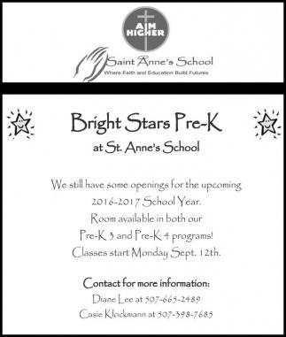Bright Stars Pre-K