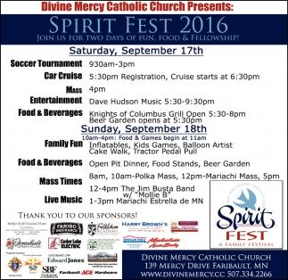 SPIRIT FEST 2016