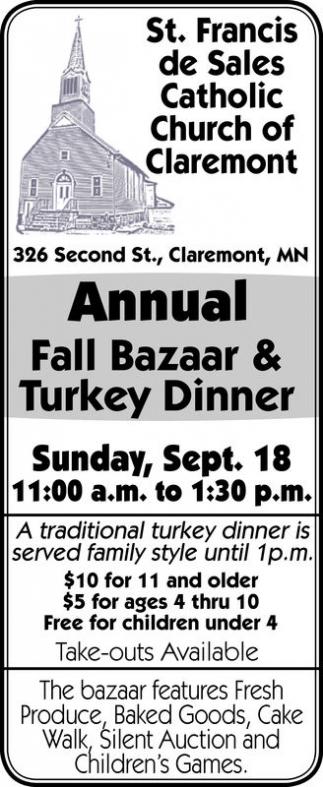 Annual Fall Bazaar and Turkey Dinner