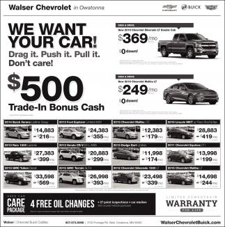 $500 Trade-In Bonus Cash