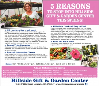 5 REASONS TO STOP INTO HILLSIDE GIFT & GARDEN CENTER THIS SPRING!