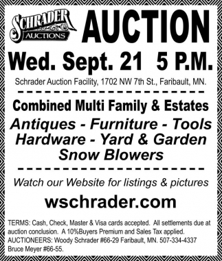 Tools, Antiques and Furniture