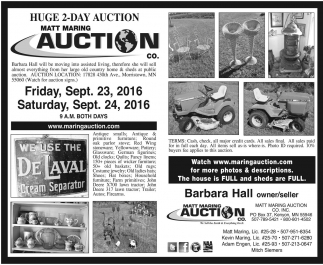 HUGE 2 DAY AUCTION