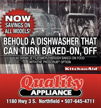 NOW SAVINGS ON ALL MODELS!, Quality Appliance, Faribault, MN
