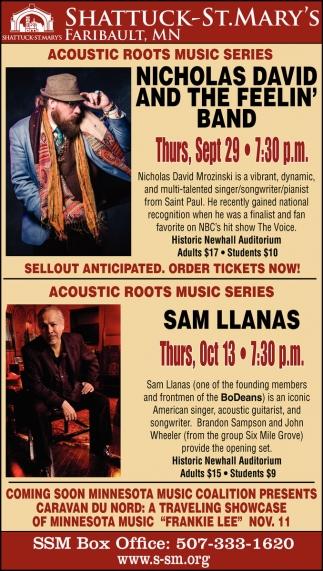 Nicholas David and The Feelin' Band - Sam Llanas