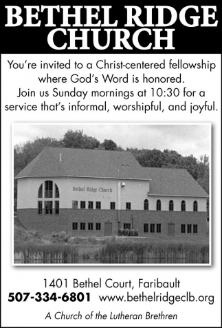 You're invited to a Christ-centered fellowship where God's Word is honored