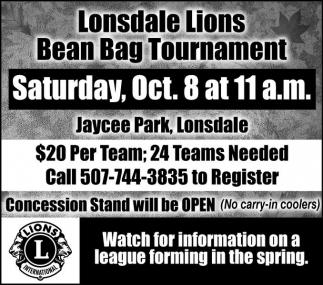 Bean Bag Tournament