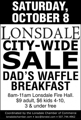 LONSDALE CITY-WIDE SALE