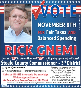 Steele County Commisioner - 3rd District
