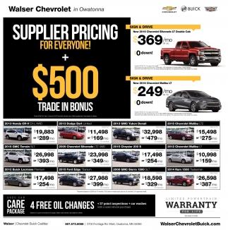 $500 Trade-In Bonus