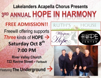 3rd Annual Hope in Harmony