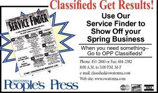 Classifieds Get Results!