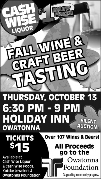 FALL WINE AND CRAFT BEER TASTING