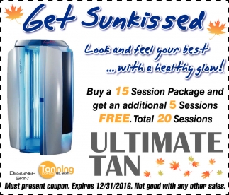 Get Sunkissed, Ultimate Tan, Faribault, MN