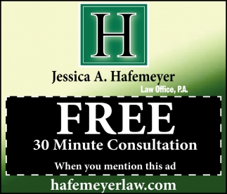 FREE 30 Minute Consultation, Hafemeyer Law Office, Faribault, MN